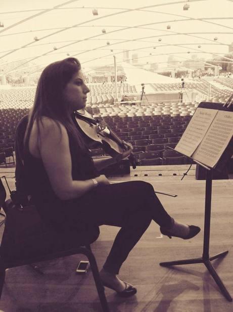 Soundcheck for a concert with German Pianist, Haushka, at Millennium Park.